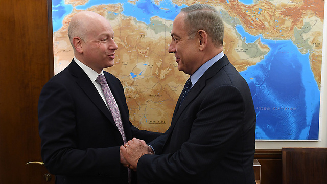 Prime Minister Benjamin Netanyahu and Middle East Special Envoy Jason Greenblatt (Photo: Kobi Gidon/PMO) (Photo: Kobi Gidon/PMO)