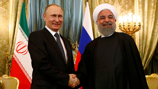 Putin and Rouhani, earlier this year. The most important diplomatic development concerning Syria will take place in Wednesday's summit   (Photo: Reuters)
