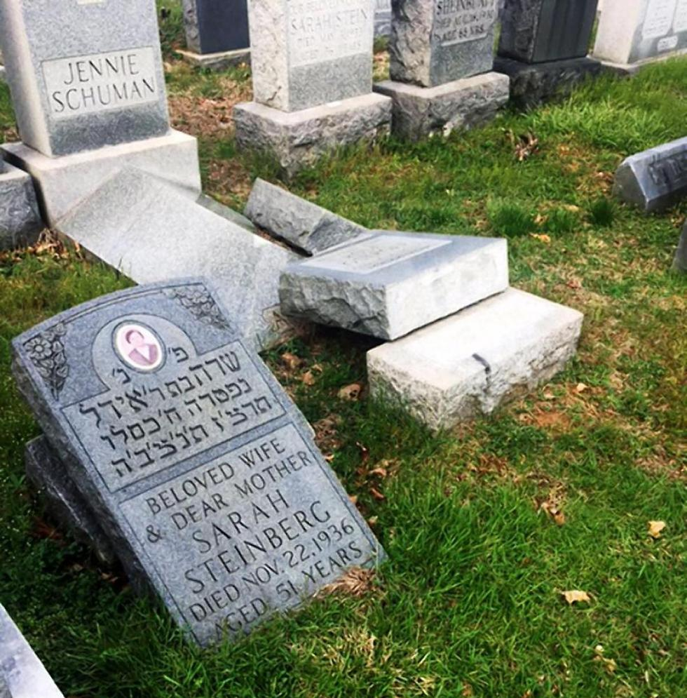 Jewish graves desecrated in Pennsylvania
