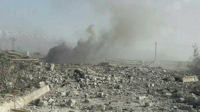 Attack on pro-Assad militia base, earlier this week. Likely unrelated to the spillover incidents but rather to a different war