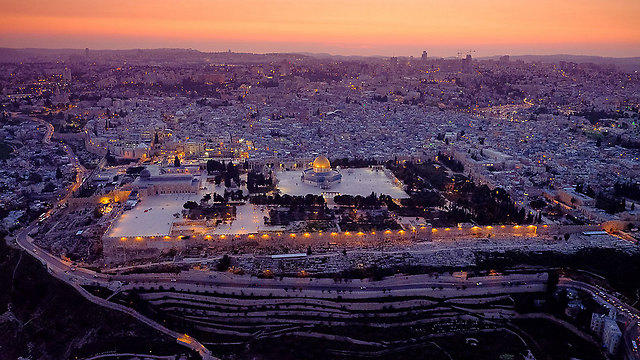 The Old City in twilight (Photo: Israel Bardugo) (Photo: Israel Bardugo)