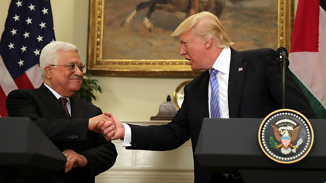 Palestinian President Mahmoud Abbas and Trump during the meeting in Washington earlier this month (Photo: Reuters) (Photo: Reuters)