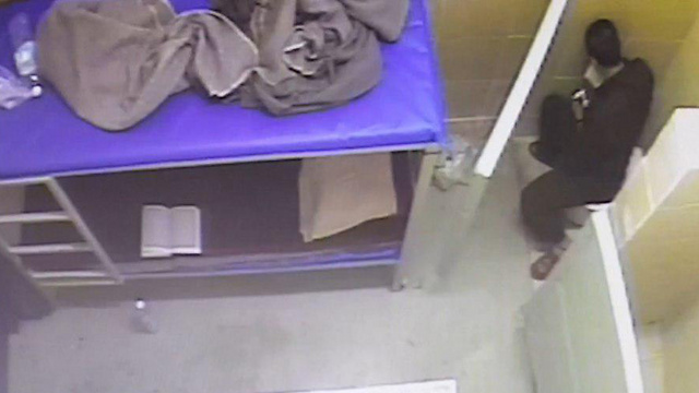 Barghouti recorded eating snacks (Photo: Prison Services)
