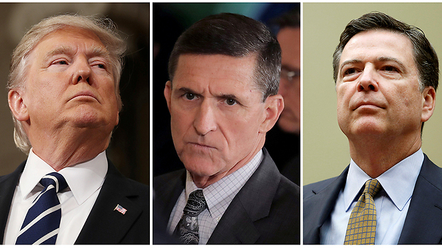 L to R: Trump. Flynn and Comey (Photos: Reuters) (Photo: Reuters)