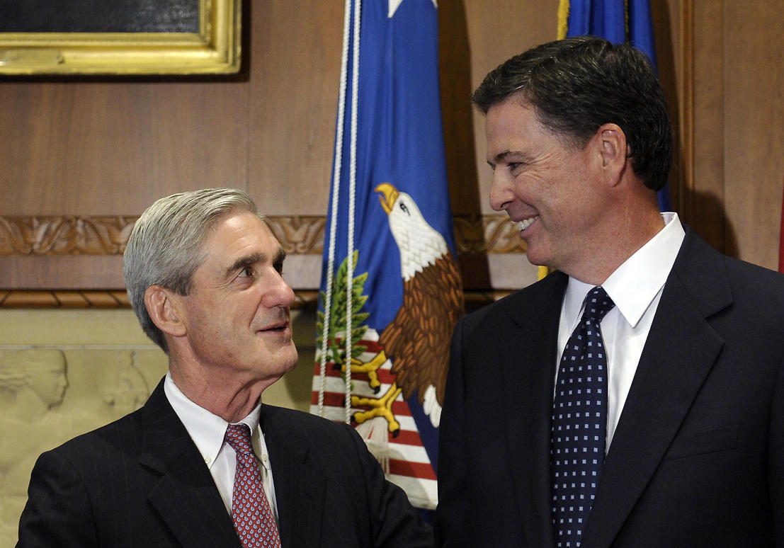 Robert Mueller (L) and James Comey (Photo: AP)