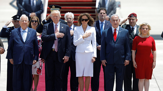 Israel's President Rivlin, US President Trump, First Lady Melania, Prime Minister Netanyahu and his wife Sara (Photo: Reuters)