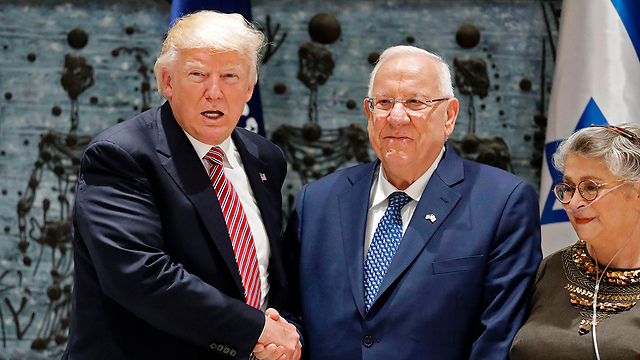 Rivlin and Trump meeting at the President's residence (Photo: AFP) (Photo: AFP)