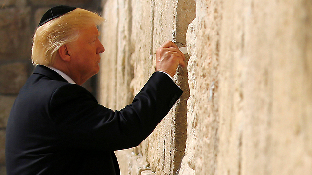 Trump at Western Wall (Photo: Reuters)