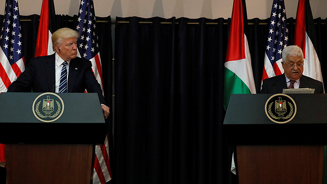 Trump and Abbas in Bethlehem (Photo: Reuters) (Photo: Reuters)