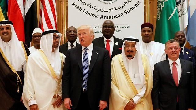 Trump with Arab leaders in Riyadh. In addition to the demand to banish Hamas members, the US administration also ordered Qatar to stop transferring funds to the organization's military wing (Photo: Reuters) (Photo: Reuters)