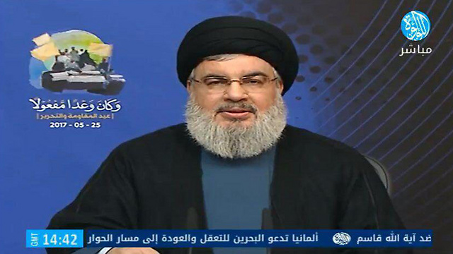 Nasrallah in his televised remarks