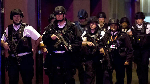 Armed police after the London attack (Photo: EPA) (Photo: EPA)