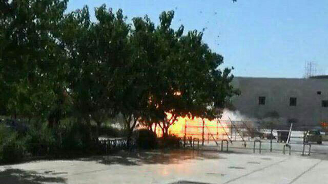 Explosion at the mausoleum