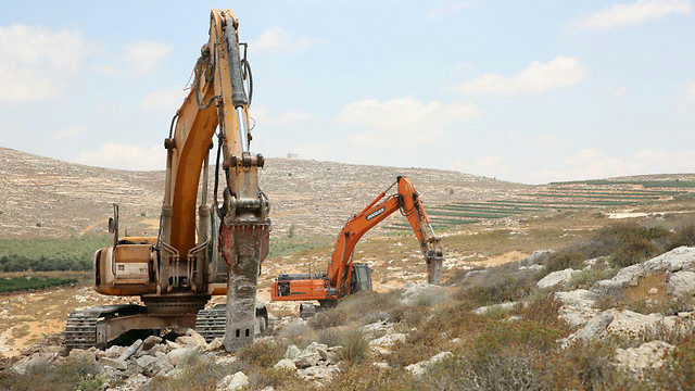 The Amichai construction site a month ago, when works began (Photo: TPS) (Photo: TPS)