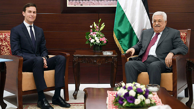 Kushner meets with Abbas (Photo: Getty Images) (Photo: Gettyimages)
