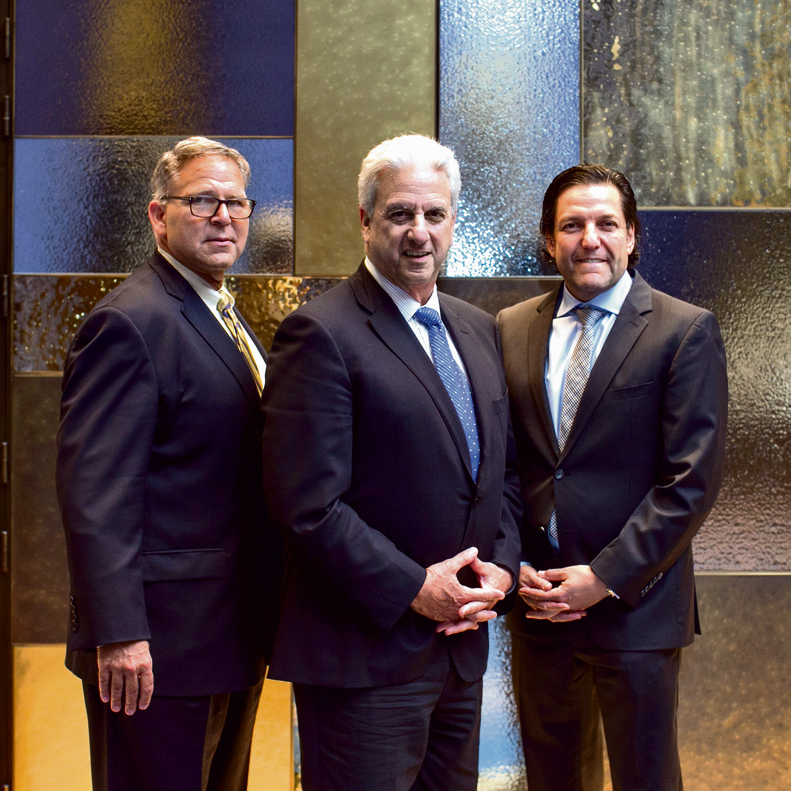 From left to right: Jerry Silverman, president and CEO of the Jewish Federations of North America; Michael Siegal, chairman of the Jewish Agency's Board of Governors; and David Koschitzky, chairman of Keren Hayesod-UIA World Board of Trustees (Photo: Ohad Zwigenberg)