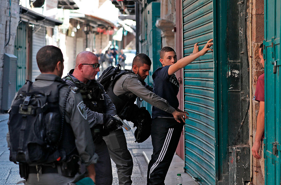Security forces holding searches in Jerusalem's Old City (Photo: AFP)