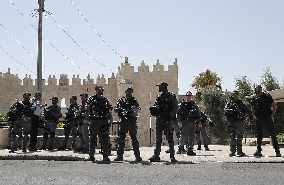 Security forces in Jerusalem's Old City following Friday's attack at the Lion's Gate (Photo: AFP)