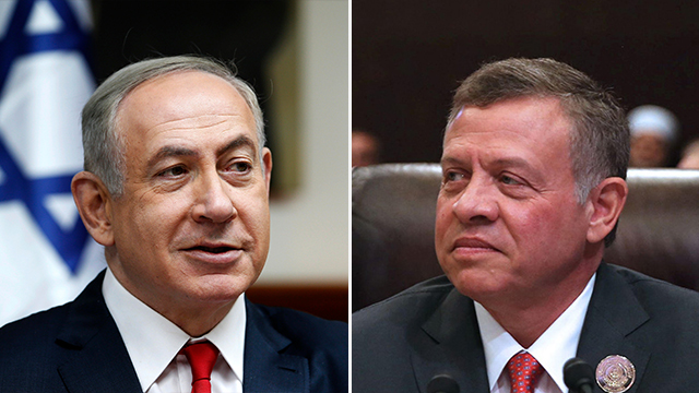 Netanyahu and Abdullah. The inexperienced Americans failed to coordinate their plans with the Jordanian king (Photos: AP, AFP)