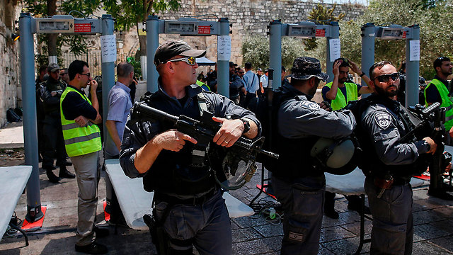 Temple Mount metal detectors (Photo: AFP)