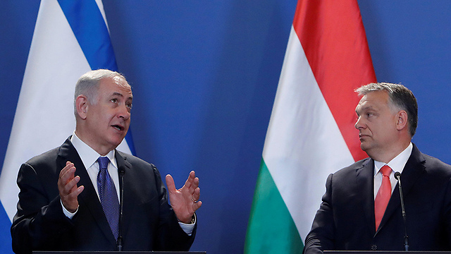 Benjamin Netanyahu and Hungarian prime minister in Budapest last year (Photo: Reuters)