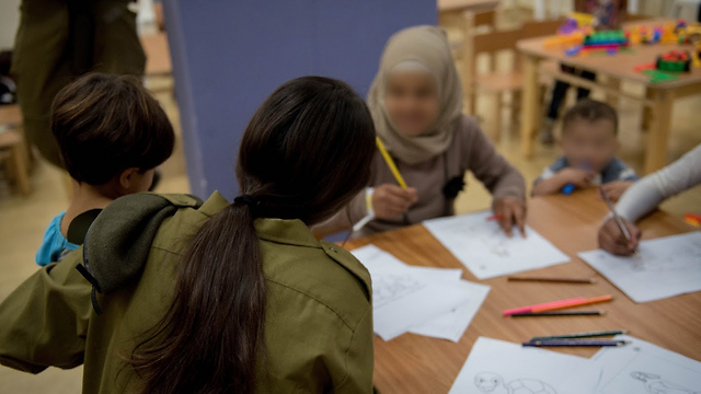 Syrian children brought to Israel for medical treatment and a day of fun activities (Photo: IDF Spokesperson's Unit)