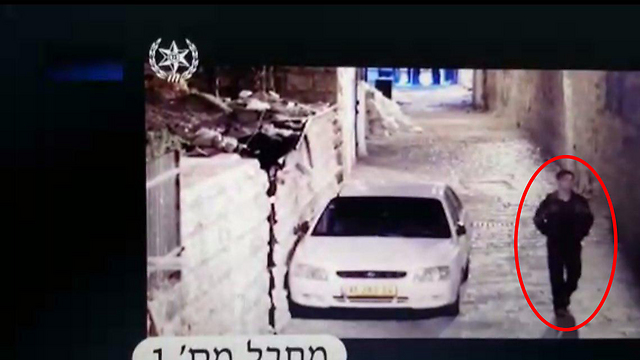 One of the terrorists captured by security cameras in the Old City