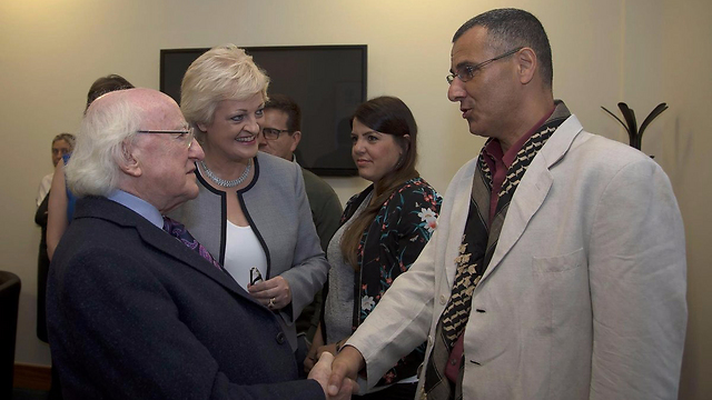 BDS founder Omar Barghouti meeting with Irish President Michael Higgins (Photo: BDS)