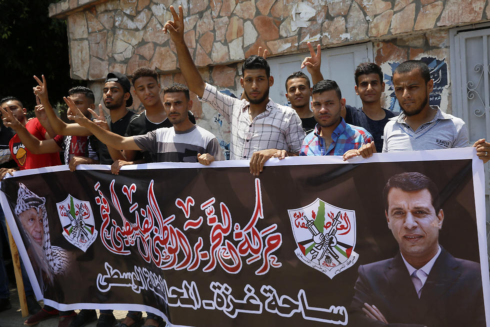 Supporters of Dahlan in the Gaza Strip