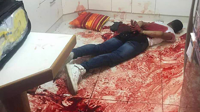 The terrorist arrested at the scene of the attack