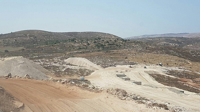 The Amichai construction site now with works halted