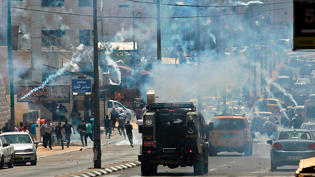 Clashes in Bethlehem over the metal detectors on the Temple Mount. Muslim groups are just looking for excuses to launch protests (Photo: AFP)