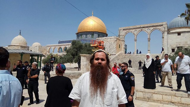 Jewish visitors at the Temple Mount (Photo: Yeraeh organization)