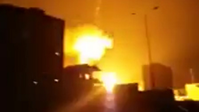 The airstrike on Hamas positions in Gaza