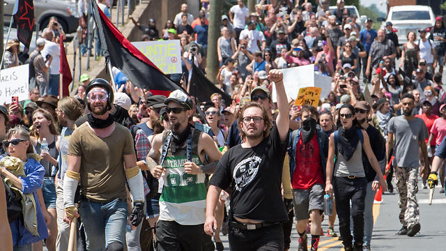 Radical right-wing protest in Charlottesville, VA (Photo: AFP)