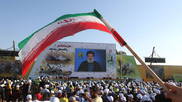 Hezbollah rally in Lebanon. 'Iran is trying to make the front more dangerous'  (Photo: EPA)