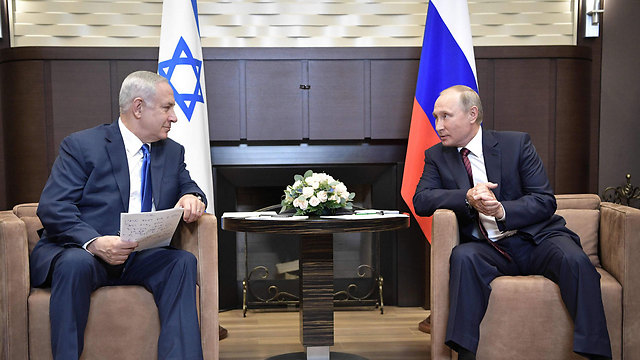 Putin and Netanyahu meet in Sochi (Photo: AFP)