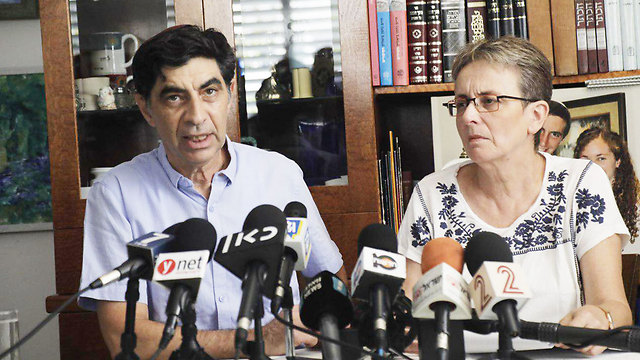 Simcha and Leah Goldin, parents of Hadar Goldin (Photo: Shaul Golan)