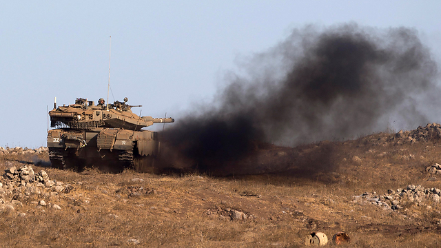 Major military exercise in northern Israel, earlier this month. Ensuring the next war will be short requires us to fight the state of Lebanon, not just Hezbollah (Photo: EPA)