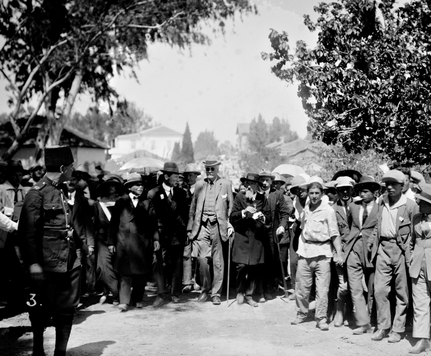 Lord Arthur Balfour during a visit to Palestine in 1925 (Photo: Getty Images)