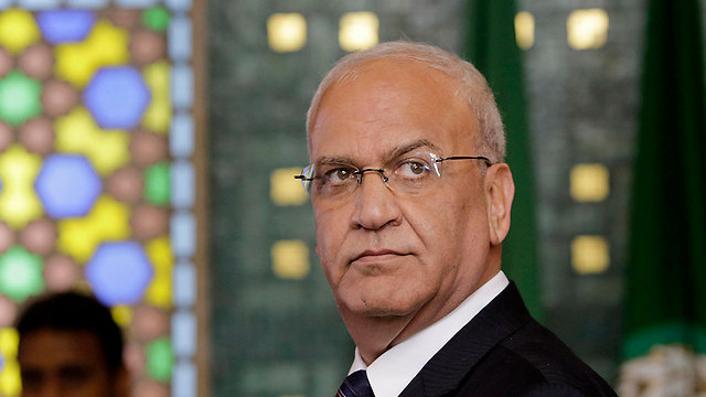 Head of the Palestine Liberation Organization (PLO) Executive Committee Saeb Erekat  (צילום: AP)
