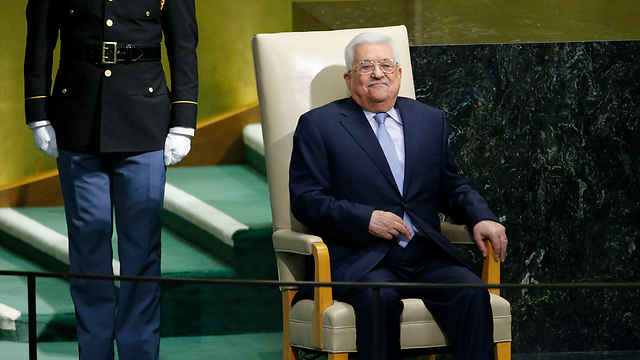 Mahmoud Abbas at the UNGA (Photo: Reuters)