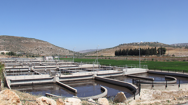 Sewage treatment plant in the Palestinian Authority (Photo: COGAT)
