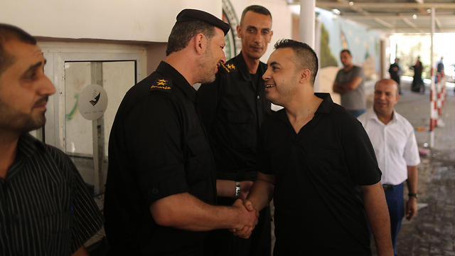 One of the prisoners released, Taher Abu Armana (Photo: AFP)