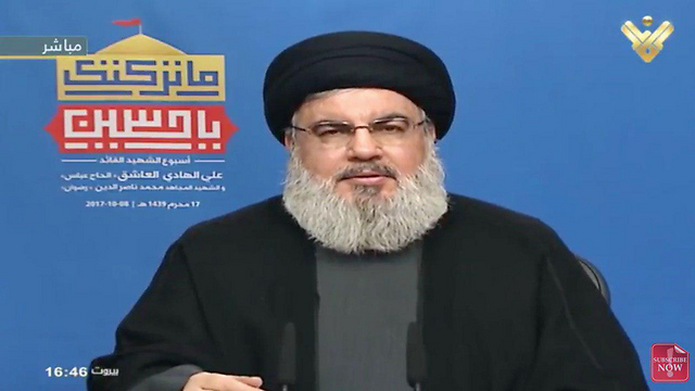 Hassan Nasrallah. Hezbollah is training the Shiite Houthi rebels in Yemen and offering them advice