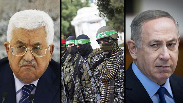 The cabinet decided Israel would not negotiate with Palestinians until Hamas is disarmed (Photos: Yonatan Sindel, AFP)