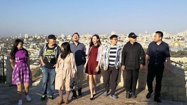 The visiting Chinese bloggers also visited Jerusalem