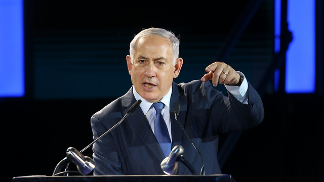 PM Netanyahu spoke about the recent 'spillover' from Syria into Israel, saying Israel will not tolerate such incidents and strike back at their sources (Photo: Alex Kolomoisky)