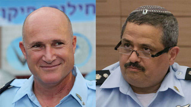 Police Commissioner Alsheikh (R)'s decision to reinstate Rittman amid allegations of sexual harassment is said to have created bad blood between police and IA (Photo: Ohad Zwigenberg, Zvika Tishler)