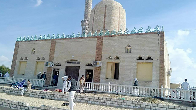 The mosque prior to the attack